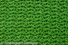 Stacked V's - free crochet stitch pattern by Shibaguyz Designz.