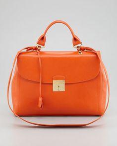 The 1984 Satchel Bag, Mandarin by Marc Jacobs at Bergdorf Goodman.