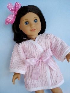 Robe 18 inch Doll Clothing Sewing Pattern (robe, pants, jacket, top by preciouspatterns,