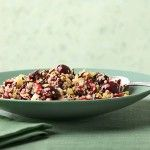 This whole-grain wild rice and quinoa salad recipe is perfect for toting to summer potlucks. It features sweet cherries, crunchy celery, nutty aged goat cheese and toasted pecans. If you can find red quinoa, it's particularly pretty. http://blog.preventcancer.org/2014/healthy-recipe-cherry-wild-rice-quinoa-salad/