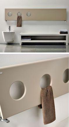 Towel warmer TREO by ANTRAX IT | #design Andrea Crosetta #bathroom