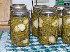 Canning Green beans  potatoes (I'd like to add carrots to this)