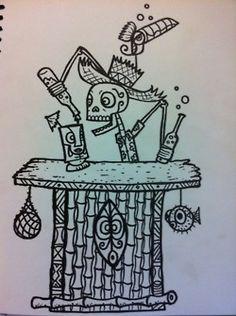 Tiki Bar Skeleton