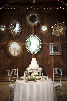 mirrors - barn wedding