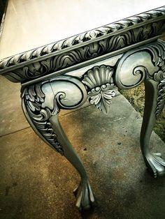 Black Glazed Silver Furniture by SEGELQUISTDESIGN