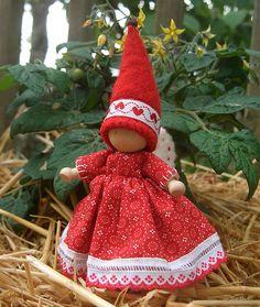 Wooden fairy doll.