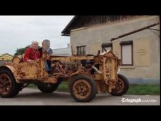 István Puskás created a car almost entirely out of wood, built over four months in his workshop in Tiszaőrs, Hungary.