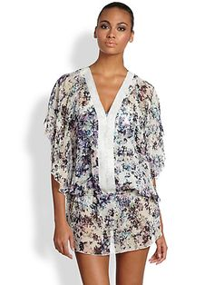 Badgley Mischka - Fiona Beaded Caftan - Saks.com