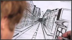 draw, colleges, art, pender street, one point perspective, inspir, perspect build, citi, design