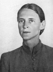 """Mildred Harnack was a Milwaukee-born German-American who moved to Germany with her husband and became part of the nazi resistance. She was beheaded on 16 February 1943. Her last words were purported to have been: """"Ich habe Deutschland auch so geliebt"""" (""""I loved Germany so much""""). She was the only American woman executed on the orders of Adolf Hitler."""