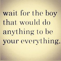 true love waits <3