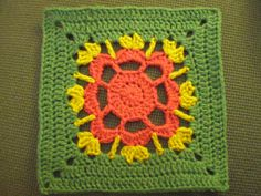 Granny flower Square Tutorial