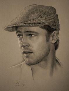 Pencil Art of Brad Pitt