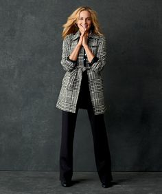 Windsor plaid trench coat #ColdwaterCreek