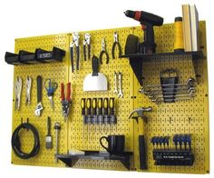 Wall Control 4 ft Metal Pegboard Standard Tool Storage Kit with Yellow Toolboard and Black Accessories by Wall Control, http://www.amazon.com/dp/B00ANPEH42/ref=cm_sw_r_pi_dp_FHXsrb1YSP6T5
