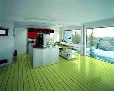 green floor, paint floor, architects, green kitchen, painted wood floors, paint wood, paint hardwood, hardwood floor, painted floors