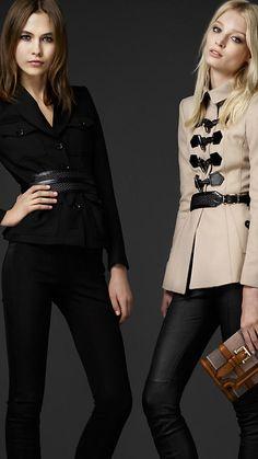 Burberry London wool blend duffle jacket