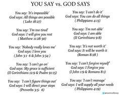 you say vs. God says