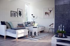 Un  salón y tres opciones para decorarlo, ¿cuál es tu favorita?