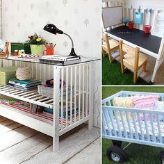 repurposed cribs