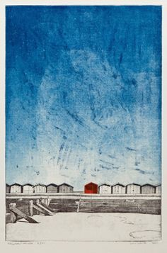 """Frinton-on-sea"" multi-plate etching with aquatint on Somerset paper by William White"