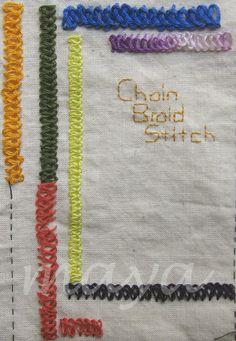 I ❤ embroidery . . . TAST Chain Braid Stitch ~By Maya Matthew