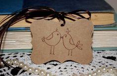 Shabby Chic Bridal Shower  Wedding Gift Favor by Booksonblocks, $4.95