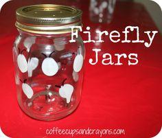 Glow in the Dark Firefly Jars!