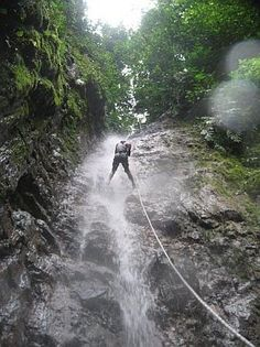 #Waterfall rappelling in Arenal Volcano National Park, #Costa #Rica