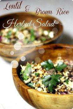 Lentil & Brown Rice Herbed Salad - fAnnetastic foods