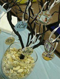 xmas trees, tree decorations, family trees, baby shower decorations, advic tree, boy idea, shower idea, babi shower, baby showers