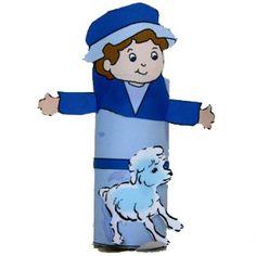 Young shepherd toilet paper roll craft for David the shepherd boy