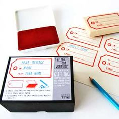 This Gift Tag Stamp Kit ($19.50) lets crafters make their wares even more unique. #diy #crafts #christmasgifts