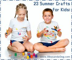 23 Fun Things for Kids to Make This Summer via 3 Boys and a Dog