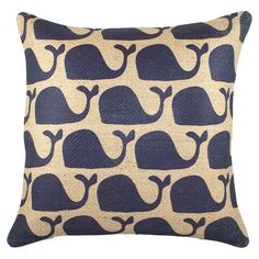 I pinned this Cetacea Pillow from the Seaside Chic event at Joss and Main!