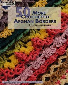 Afghan Borders   fast Oya crocheted afghans, craft, leisur art, crochet afghan, creativ partner, afghan border, crochet borders, book, crochet edg