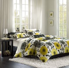 comfort set, color, comforter sets, home kitchens, bedrooms, yellow, flowers, bedding sets, comforters
