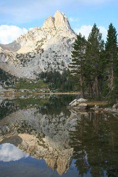 Young Lakes camping spot in Yosemite National Park, CA.