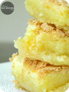 Gooey Orange Bars ~ Yields 16 Bars - A fun twist on the classic lemon bars!  They are sweet and citrusy.