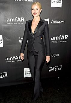 Gwyneth Paltrow flaunted her assets in a Tom Ford tuxedo at the 2014 L.A. Inspiration Gala.