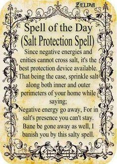 Magick Spells:  #Salt #Protection #Spell.