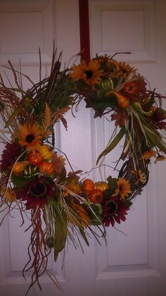 Autumn/Fall Grapevine Wreath