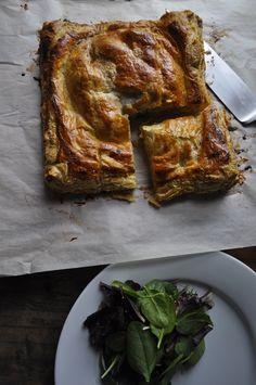 katie elliott's rustic winter potato leek tart
