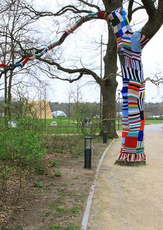 Urban knitting at Floriade