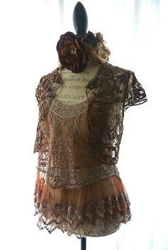 Gypsy cowgirl crochet shrug country chic wrap by TrueRebelClothing, $48.00