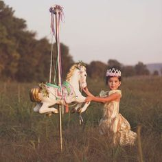 A Girl's First Love is Her Carousel Horse