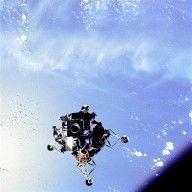 """Apollo 9 Lunar Module """"Spider"""" Over Earth's Ocean"""