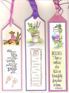 water color markers - bookmarks - art impressions