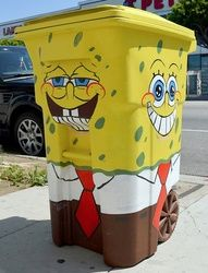 spongebob trash can. love it