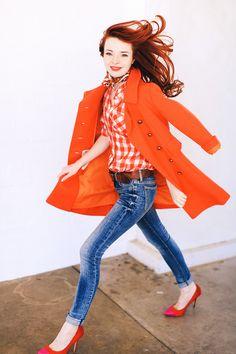 orange and denim